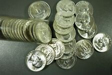 1959 Silver Washington Quarters Full Roll of 40 Brilliant Uncirculated (BU)