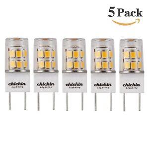 ChiChinLighting 5-pack LED G8 led bulb Soft White 2800K 35mm LED G8 Base T4 2...