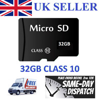 32GB Micro SD Card Class 10 TF Flash Memory Mini SDHC SDXC - 32G - NEW - UK 2018
