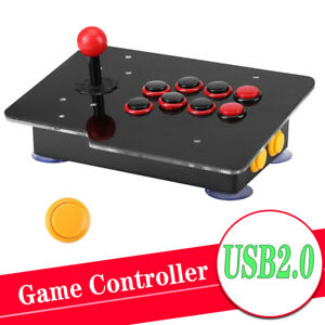 Wired USB Arcade Fighting Stick Joystick Gaming Controller Video For PC Game New