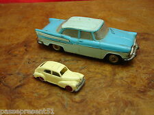 2 anciennes voitures, Simca Chambord Norev, Jouef 203, HO