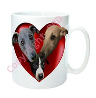Whippet Gift Dog Mug - Hearts & Whippets inc Puppy Mothers Day Gift Whippet Mug