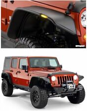 For 2007-2017 Jeep Wrangler JK Fender Flares with Turn Signal Light Set Screw-in