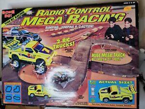 Vintage Tyco Maximum Heat Mega Racing Radio Control RC Track And Trucks Open Box