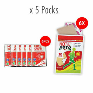 [HOTIN] Pain Relieving Aromatherapy Plaster 300 Patches + Cream 30 Sachets