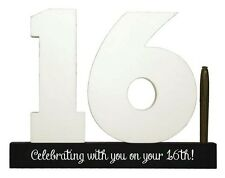 Splosh Personalise 16 Signature Numbers 16th Birthday Fun Keepsake Momento Gift