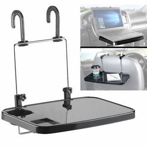 Autotisch: Kfz-Universal-Klapptisch mit Getränkehalter, für Lenkrad & Kopfstütze