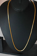 22k Gold plated long curb twist chain indian  ethnic jewelry real looking  u1g