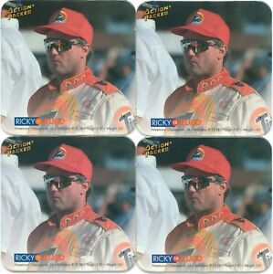 Lot Of 4 RICKY RUDD 1994 Action Packed Coastars # 14