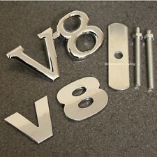 Chrome V8 Grill & Rear Boot Badge Set Emblem Decal Car Van Grille Back Trunk v8s