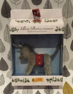 Steiff Club Baby Donkey Ornament North American Exclusive 667114 2003 Boxed