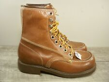 New Old Stock Ranger Endicott Johnson Men's Leather Work Soft Toe Boots Size 8