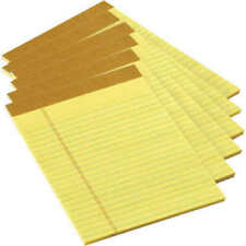 TOPS - Junior Legal Pads 5 x 8 Inches, 50 Sheets Each, Canary Yellow, Pack of 24