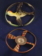 RARE ancien jouet deux toupies tôle oiseau hélice MÄRKLIN 1910/20 style jep