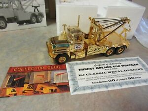 FIRST GEAR MACK R-MODEL ERNEST HOLMES TOW TRUCK GOLD #20/96