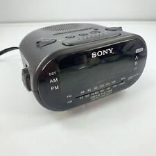 Sony Dream Machine AM/FM Dual Alarm Black Clock Radio Model ICF-C318 TESTED NICE