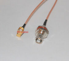"6"" SMA Male Right Angle to BNC Female Bulkhead RG316 Cable Pigtail"