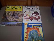 3 Dinosaurs Children's Kids School Books Eyewitness, Maia, Stegosaurs Hardback