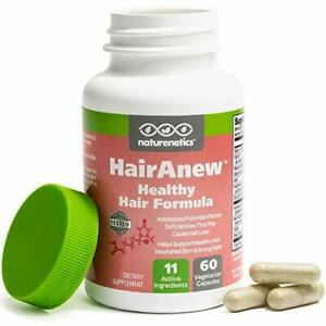 HairAnew Healthy Hair Formula - 11 Hair Vitamins For Women & Men, 60 Capsules