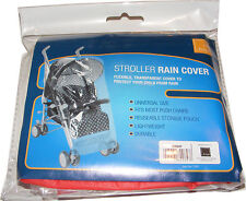 UNIVERSAL PLASTIC STROLLER BUGGY PUSHCHAIR RAIN COVER PROTECTOR