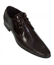 Mens Voeut Patent Leather Shoes for Party Wedding Prom Birthday Cherry Size 10
