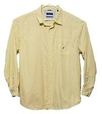 Nautica Men's Yellow Striped Long Sleeve Shirt Size XXL