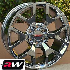 "GMC Sierra Wheels OE Factory Replica Rims 20"" inch 20x9"" 6 lug 6x5.50"" Chrome"
