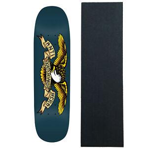"Anti Hero Skateboard Deck Shaped Eagle Blue Meanie 8.75"" x 32.55"" Navy with Gri"