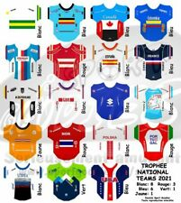 3 maillots/stickers pour cyclistes miniatures Equipe Nationale 2021 Alaphilippe