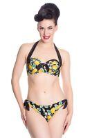 New Lemon Lemonade Bikini Underwired Black Frill Vintage Retro XS S M L XL Bra