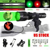 Red Green LED light Coyote Hunting Predator Flashlight Hog  Varmint Scope Mount