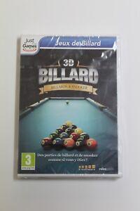 3D Biliardo & Snooker PC Juego. Lingua Francese, Nuovo E Sigillato