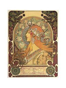 Alphonse Mucha - Zodiac 1896 Print 60x80cm