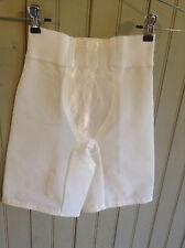 Vintage Sears Design in Motion wht hgh waist lng leg girdle w/ garters sz 27-28