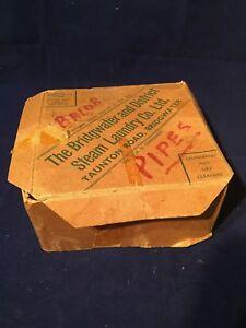 Old Vintage Box Bridgewater & District Steam Laundry Co Collar Box