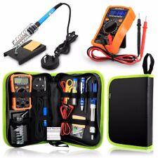 Soldering Iron Kit 60W Adjustable Temperature Welding Tool Digital Multimeter HQ