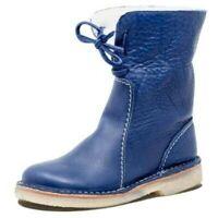 Winter Wasserdicht Schneeschuhe Damen Warm Stiefel Stiefeletten Flach Boots D