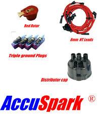 Reliant 8mm cables, ac9c bujía, Rotor Rojo & Distribuidor TAPA SUPERIOR