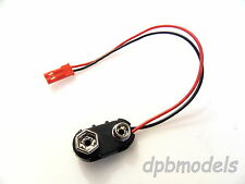 9v BATTERY SNAP - JST MALE PLUG CONNECTOR LEAD 125MM PP3 RC LED LIGHTS