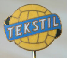 TEKSTIL KUCOVE Vintage 1960s Club crest type badge Stick pin 17mm x 14mm