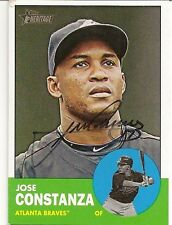Jose Constanza Atlanta Braves Signed 2012 Topps Heritage Card
