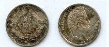 25 Centimes Argent Louis-Philippe 1847 Paris Monnaie Superbe à non circulée N° 2