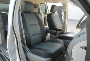 DODGE GRAND CARAVAN 2012-2016 IGGEE S.LEATHER CUSTOM FIT SEAT COVER 13 COLORS