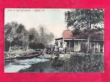 1910 Hotel at Lake Drummond Suffolk VA Post Card Pub Jos. P. Hall