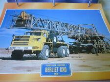 Super Trucks Baustellen LKW Frankreich Berliet GX0, 1070
