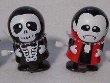 Halloween Wind Up Walking Toys Skeleton & Dracula