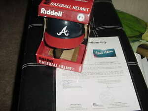 HANK AARON signed auto RIDDELL baseball HELMET~ JSA full LOA~~ braves psa/dna