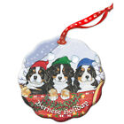 Bernese Mountain Dog Holiday Porcelain Christmas Tree Ornament