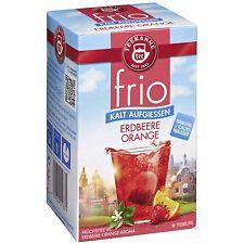 Teekanne FRIO Iced Tea: Strawberry Orange - 18 tea bags- Made in Germany