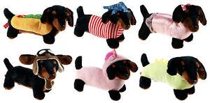Soft 28cm Dachshund Sausage Dog Plush Cuddly Toy - Various Designs